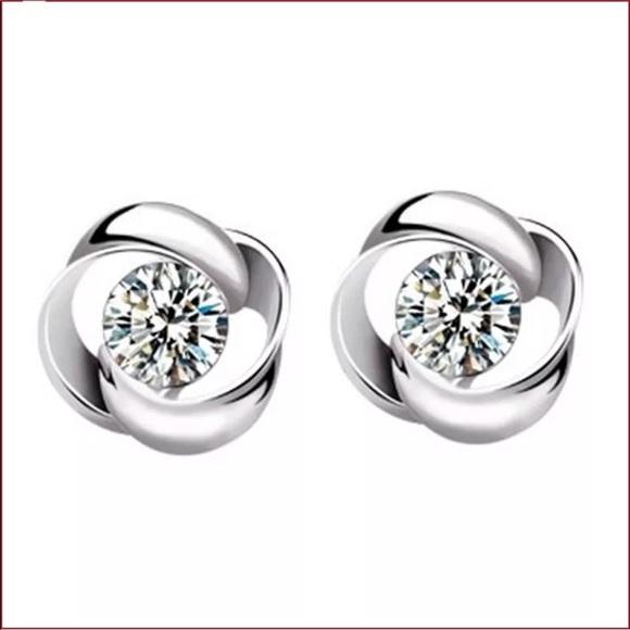 Jewelry - Sterling Silver CZ Earrings